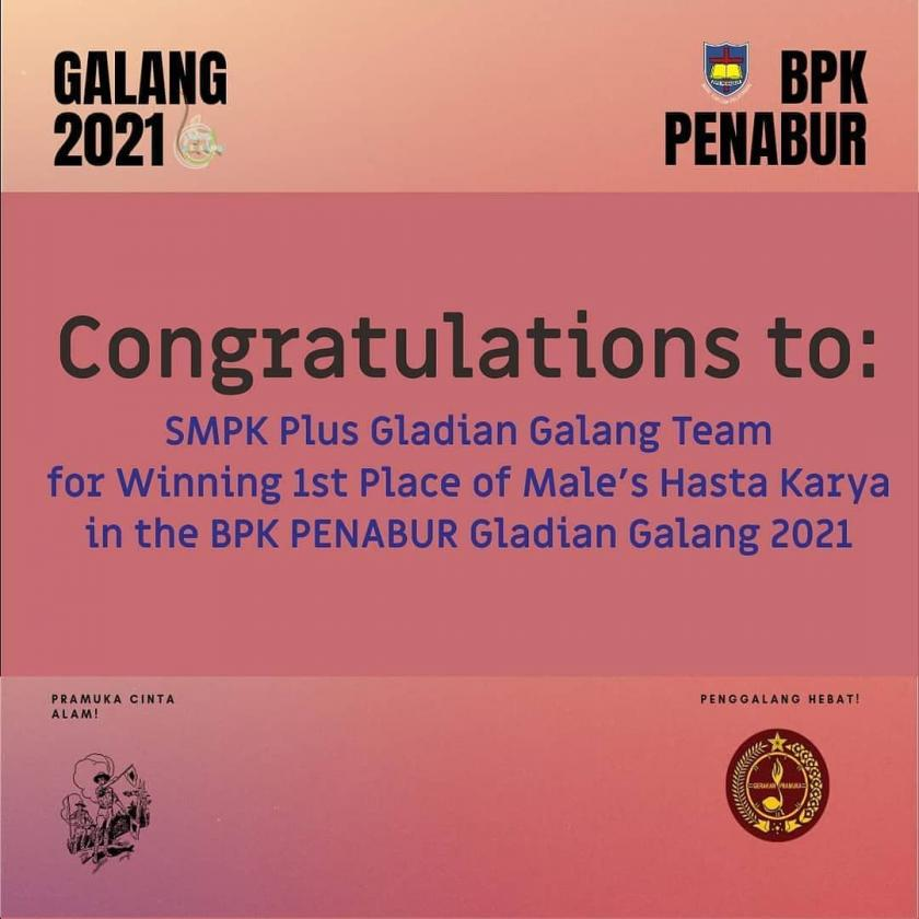 FINALLY WIN THE FIRST PLACE IN THE GLADIAN GALANG (HASTA KARYA)