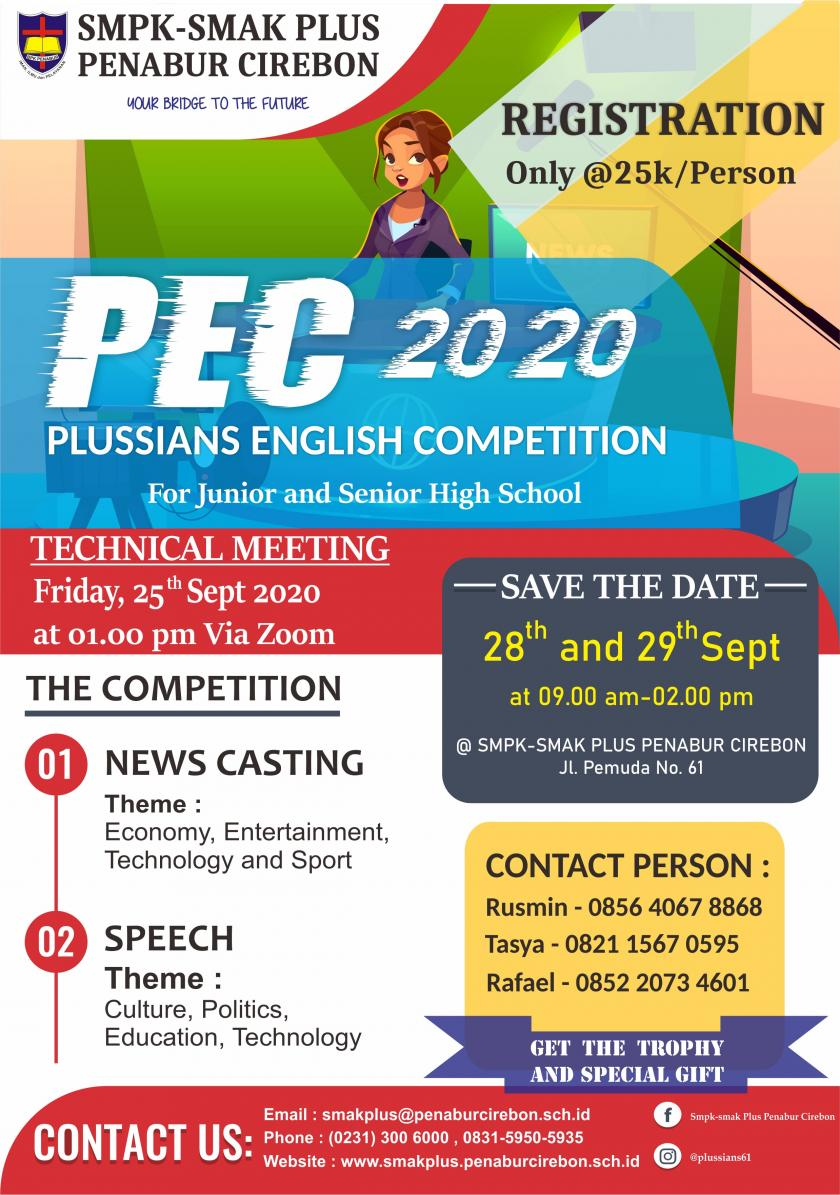 PLUSSIANS ENGLISH COMPETITION 2020 for JUNIOR HIGH SCHOOL