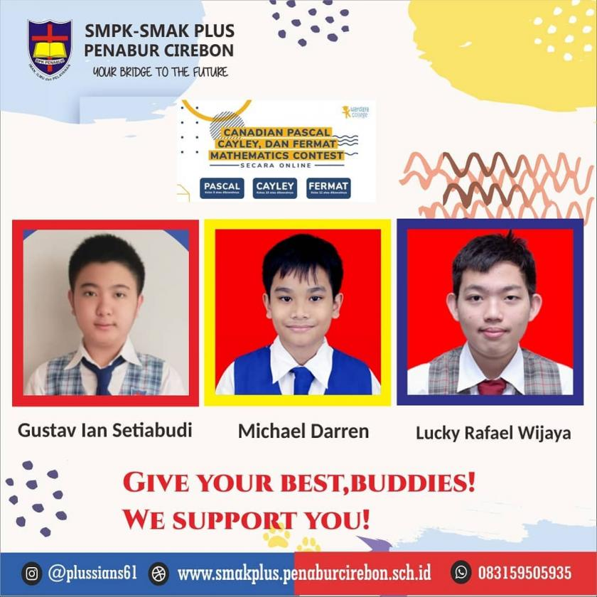 THREE STUDENTS OF SMPK-SMAK PLUS PENABUR CIREBON GOES TO CEMC COMPETITION IN CANADA UNIVERSITY OF WATERLOO